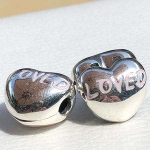 Pandora Loved Heart Clips